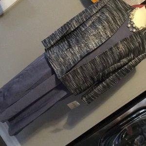 Beautiful Blue/Grey Racerback Slip Dress